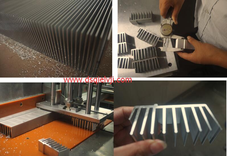 【杭州】铝型材散热器切割机采用邓氏三代机,无须二次加工就成型