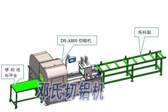 重型铝型材切割机实现260mm直径,壁厚20mm圆管切割