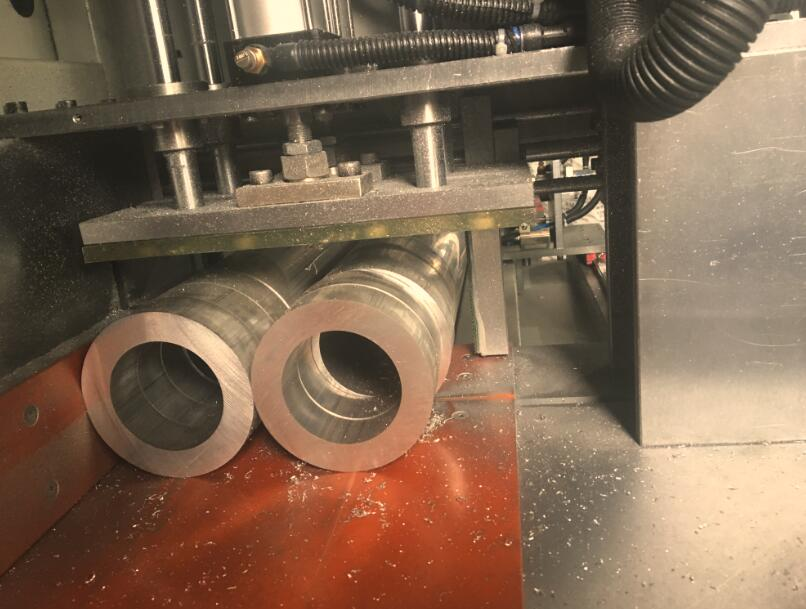 【天津】直径32.35mm铝圆管切割机,全自动送料无毛刺